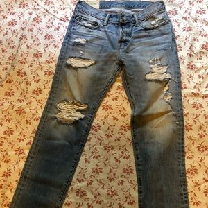 Abercrombie &Fitch slim straight distressed jeans
